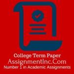 College Term Paper