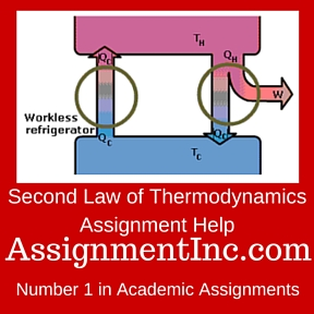 second law of thermodynamics assignment help and homework help