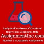 Analysis of Variance (ANOVA) and Regression