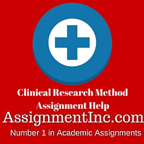 Clinical Research Method Assignment Help