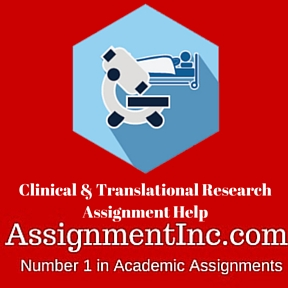 Clinical & Translational Research Assignment Help