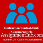 Contraction/Control Joints