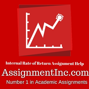 Internal Rate of Return Assignment Help