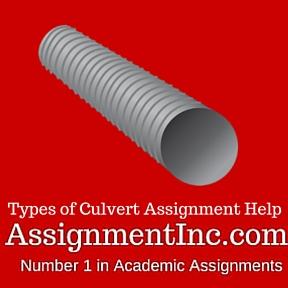 Types of Culvert Assignment Help