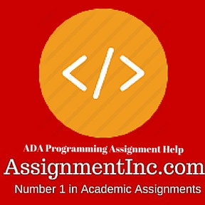 ADA Programming Assignment Help