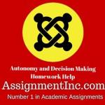Autonomy and Decision Making