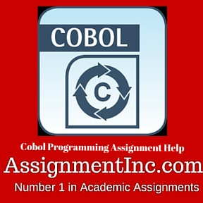 Cobol Programming Assignment Help