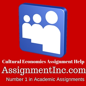 Cultural Economics Assignment Help