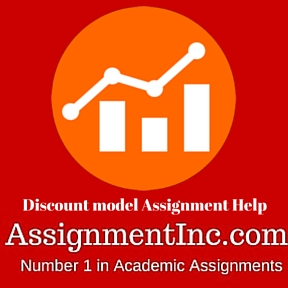 Discount model Assignment Help