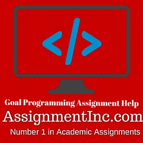 Goal Programming Assignment Help