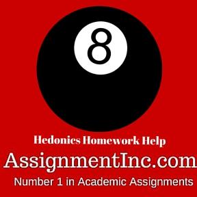 Hedonics Homework Help