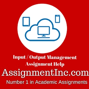 Input  Output Management Assignment Help