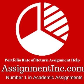 Portfolio Rate of Return Assignment Help