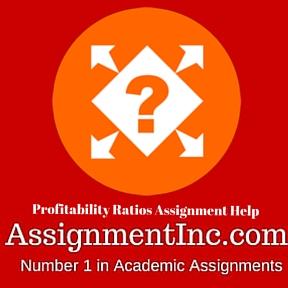 Profitability Ratios Assignment Help