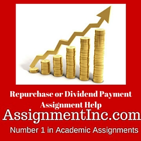Repurchase or Dividend Payment Assignment Help