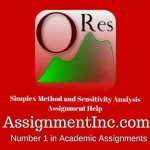 Simplex Method and Sensitivity Analysis