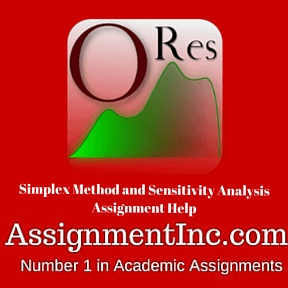 Simplex Method and Sensitivity Analysis Assignment Help