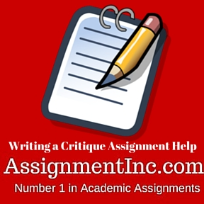 Writing a Critique Assignment Help