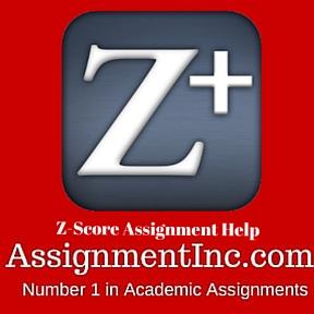 Z-Score Assignment Help