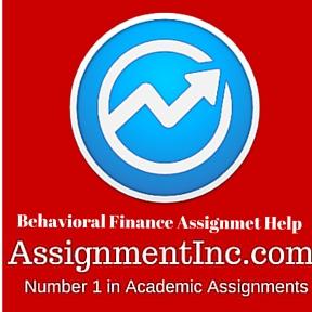 Behavioral Finance Assignmet Help