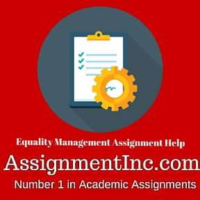 Equality Management Assignment Help