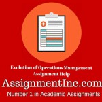 Evolution of Operations Management