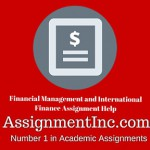 Financial Management and International Finance