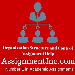 Organization Structure and Control Assignment Help