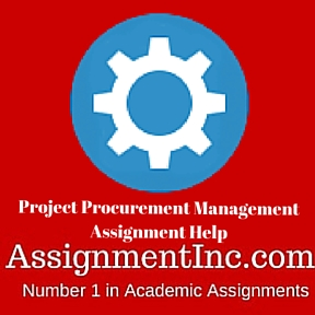 Project Procurement Management Assignment Help