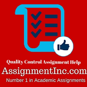 Quality Control Assignment Help