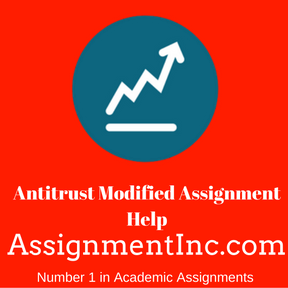 Antitrust Modified Assignment Help