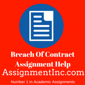 Breach Of Contract Assignment Help