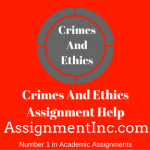 Crimes And Ethics