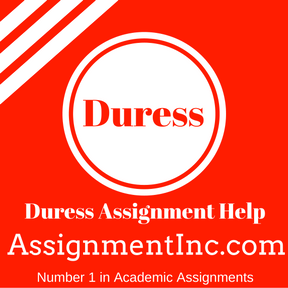 Duress Assignment Help