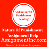 Nature Of Punishment