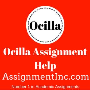 Ocilla Assignment Help