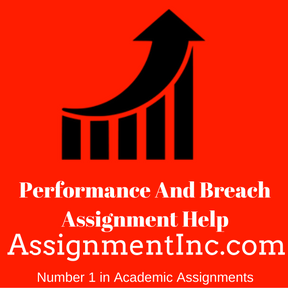 Performance And Breach Assignment Help