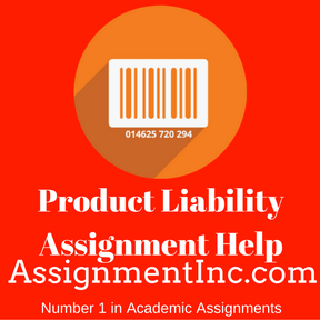 Product Liability Assignment Help