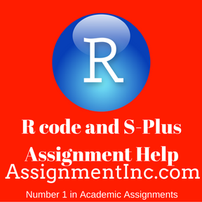 R code and S-Plus Assignment Help