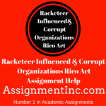 Racketeer Influenced & Corrupt Organizations Rico Act