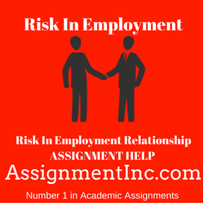 Risk In Employment Relationship ASSIGNMENT HELP