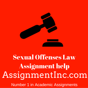 Sexual Offenses Law Assignment help