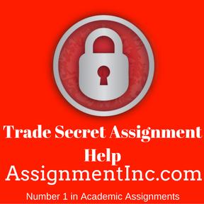 Trade Secret Assignment Help