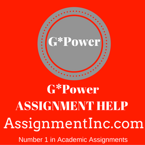 G-Power ASSIGNMENT HELP
