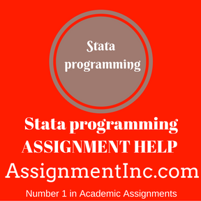 Stata programming ASSIGNMENT HELP