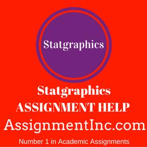 Statgraphics ASSIGNMENT HELP