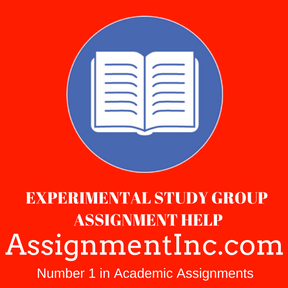 Experimental Study Group ASSIGNMENT HELP