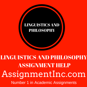 LINGUISTICS AND PHILOSOPHY ASSIGNMENT HELP
