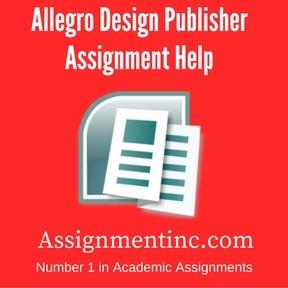 Allegro Design Publisher Assignment Help