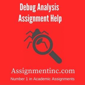 Debug Analysis Assignment Help